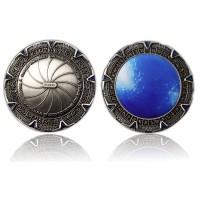SpaceGate Geocoin Antique Silver